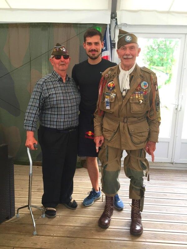 Quentin Alves et des vétérans